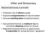 hitler and democracy