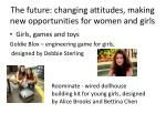 the future changing attitudes making new opportunities for women and girls