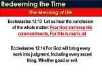 redeeming the time4