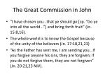 the great commission in john