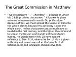 the great commission in matthew