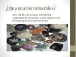 que son los minerales
