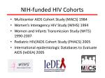 nih funded hiv cohorts