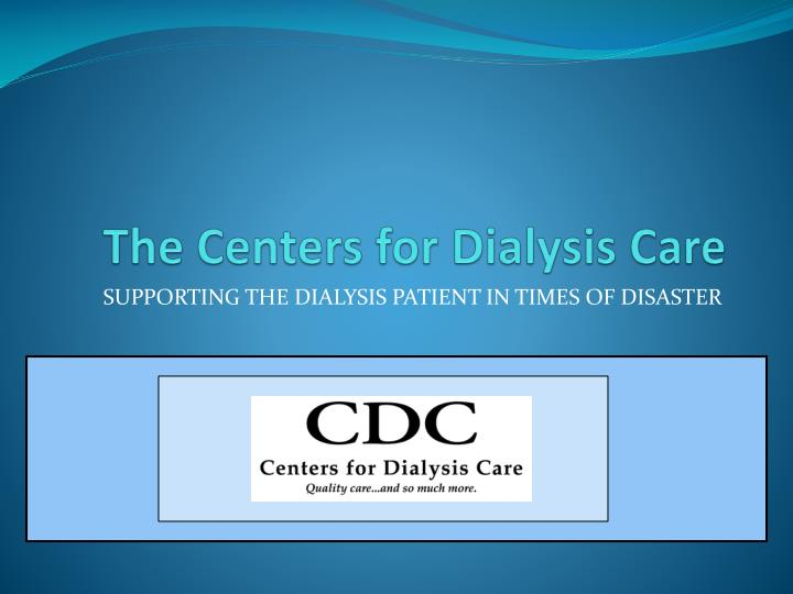 the centers for dialysis care n.