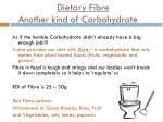 dietary fibre another kind of carbohydrate