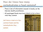 how do i know how many carbohydrates a food contains