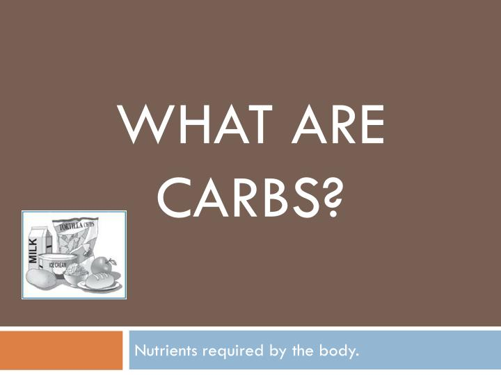 what are carbs n.