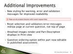 additional improvements1
