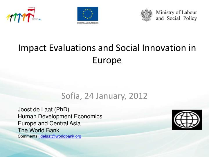 impact evaluations and social innovation in europe n.