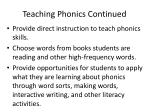 teaching phonics continued