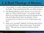i a brief theology of ministry7