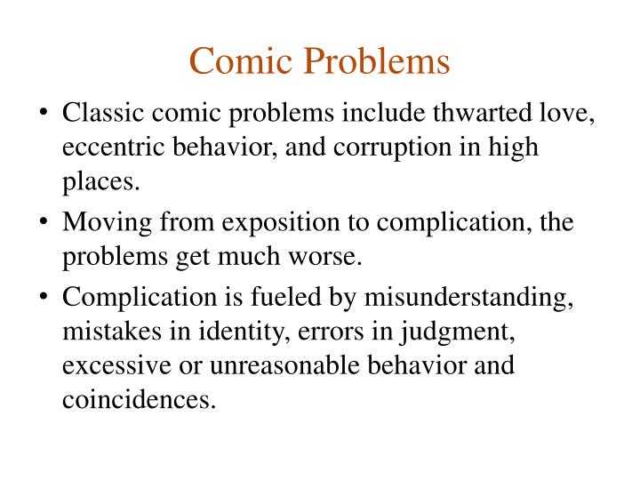 Comic Problems
