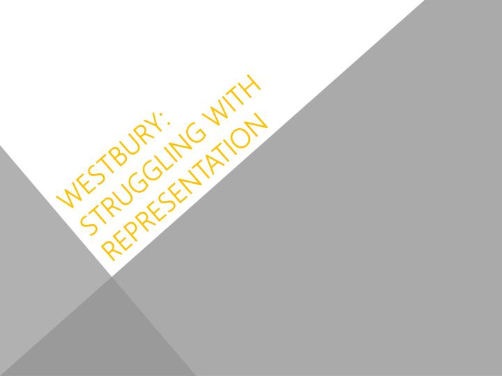westbury struggling with representation n.