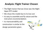analysis flight trainer chosen