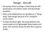 design aircraft
