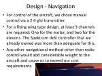 design navigation