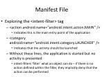manifest file4