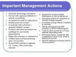 important management actions