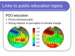 links to public education topics