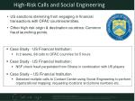 high risk calls and social engineering