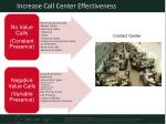 increase call center effectiveness