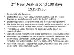2 nd new deal second 100 days 1935 1936