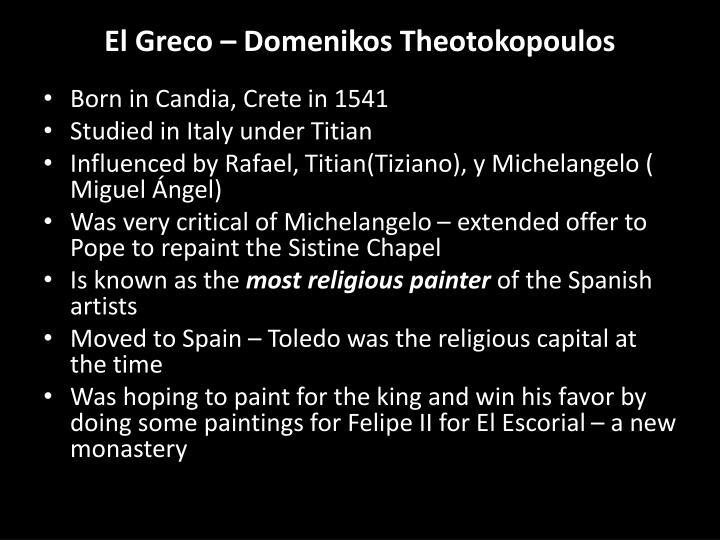 El greco domenikos theotokopoulos1