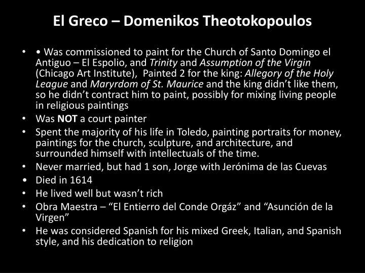 El greco domenikos theotokopoulos2