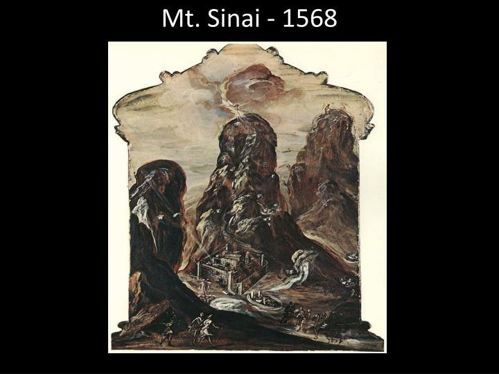 Mt. Sinai - 1568