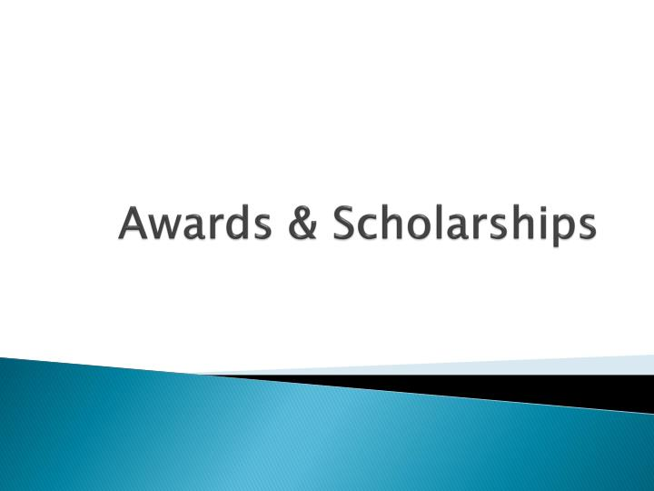 awards scholarships n.