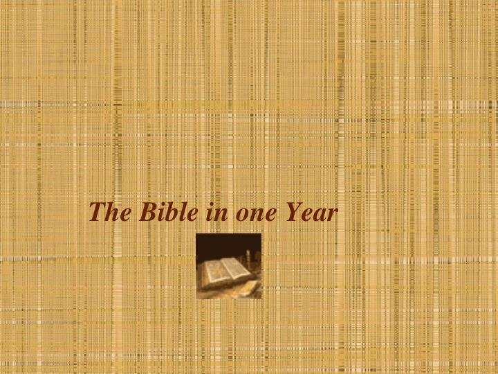 the bible in one year n.