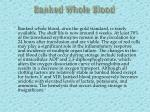 banked whole blood