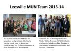 leesville mun team 2013 14