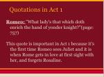 quotations in act 11