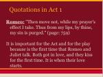 quotations in act 12