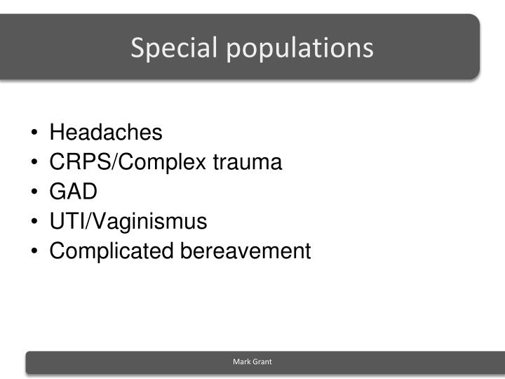 special populations n.