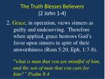 the truth blesses believers 2 john 1 42