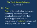 the truth blesses believers 2 john 1 44