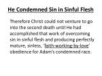 he condemned sin in sinful flesh