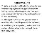 hebrews 5 7 9