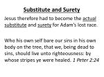 substitute and surety