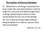 the author of eternal salvation