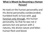 what is meant by becoming a human person