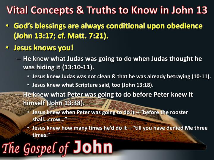 Vital Concepts & Truths to Know in John 13