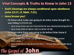 vital concepts truths to know in john 133