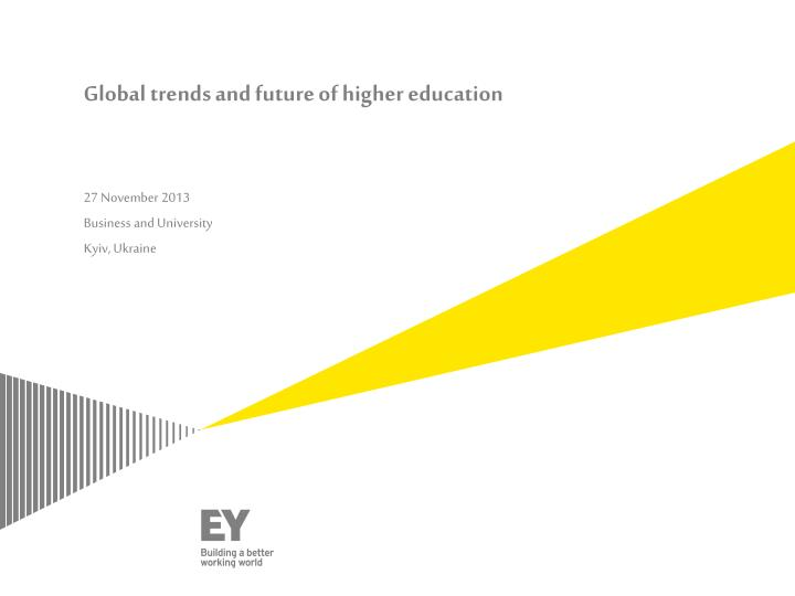 global trends and future of higher education n.
