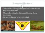 increasing numbers