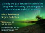 nimh satellite on stigma reduction washington dc july 22 2012