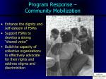 program response community mobilization