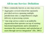 all in one service definition